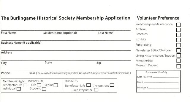 BHS membership app scan A