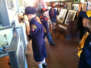 Local cub scout troupes often stop by to explore the museum.