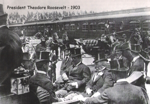 Theodore Roosevelt visits Burlingame in 1903