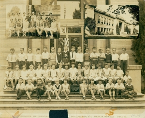 McKinley School, with faculty and students, 1929. (Click to enlarge.)