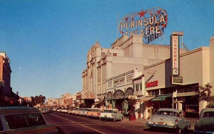 Burlingame Avenue in the 1950s
