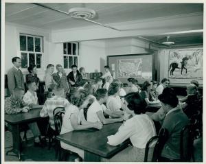 McKinley inside classroom 1950s