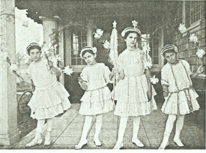 "Moonbeam Fairies Performing ""Princess Chrysanthemum"" at the Burlingame Woman's Club on Park Road in 1914"