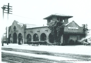 Burlingame Train Station tx(eastside) circa 1905